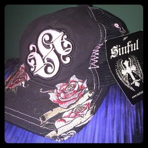 Sinful Embroidered Trucker Hat NEW!